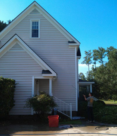 pressure washing a house in raleigh nc