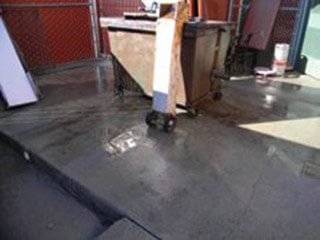 restaurant waste pad cleaning